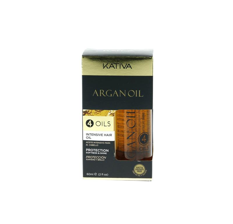 KATIVA, huile d'argan, 4 huiles